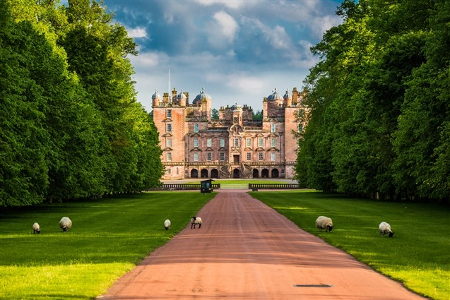 View up the Drive of Drumlanrig Castle