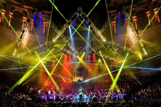 Royal Albert Hall Stage during a performance of Classical Spectacular