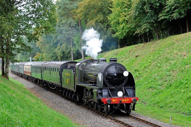 Steam Locomotive on the Bluebell Railway