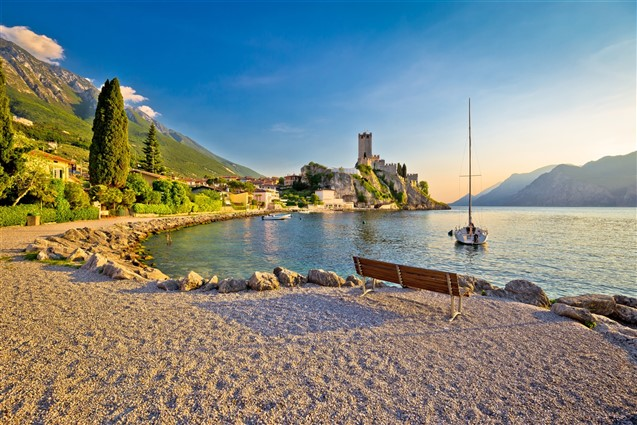 The view of Lake Garda from Malcesine