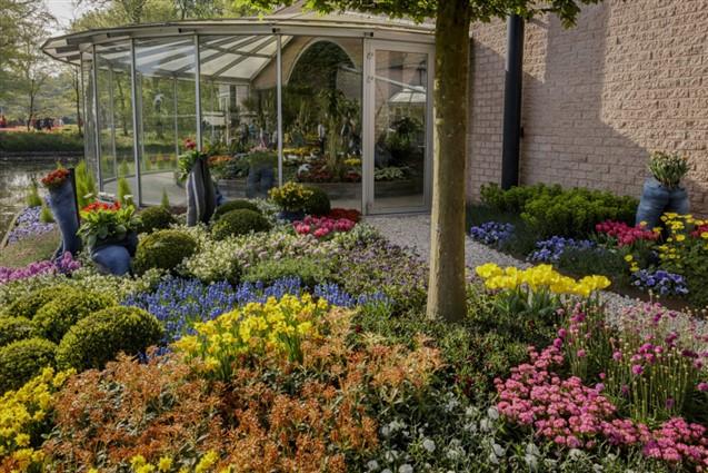 Keukenhof Dutch Bulb Gardens Flower Bed and Conservatory