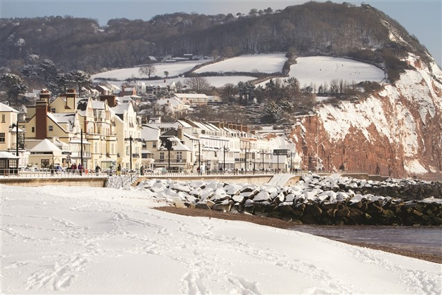 Sidmouth Sea Front in the Snow