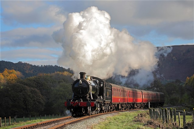 A Steam Train on the Llangollen Railway