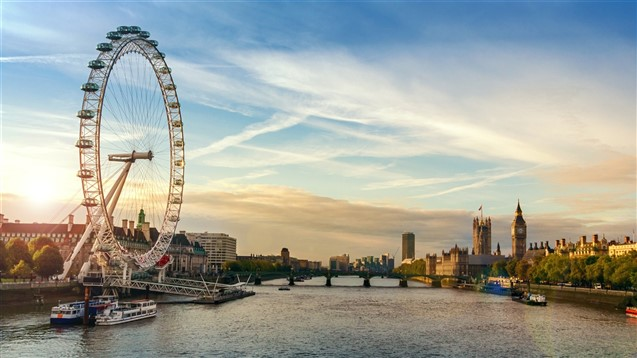A view of the London Eye and River Thames