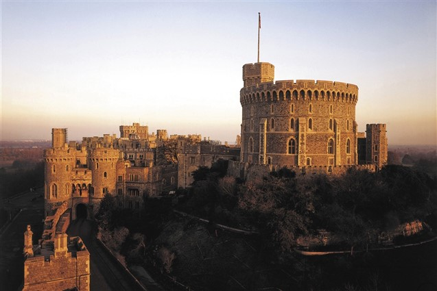An Arial view of Windsor Castle